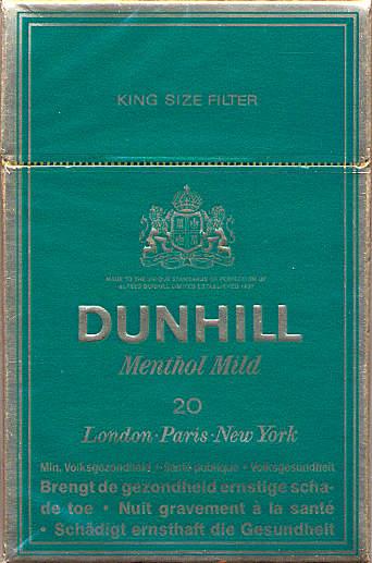 Cigarettes Dunhill California duty free shop