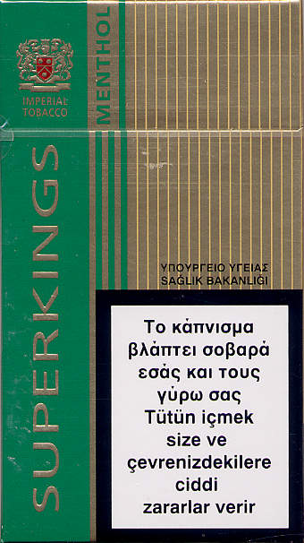 Price officiel of cigarettes