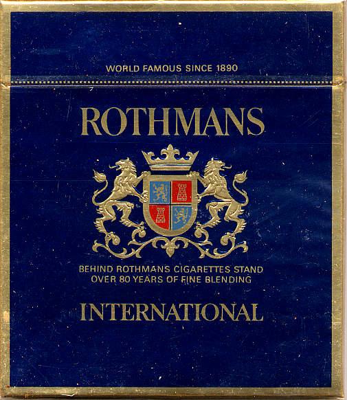 rothmans international cigrattes